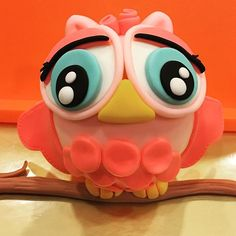 Hoot! Hoot! My latest creation...watch out for the finished cake soon! #owltopper