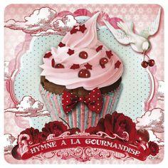 Gallery.ru / Фото #26 - Картинки для скрапа - zabelo4ka Cupcake Drawing, Cupcake Art, Paper Cupcake, Decoupage Vintage, Decoupage Paper, Vintage Labels, Vintage Postcards, Vintage Bakery, Vintage Tea Parties