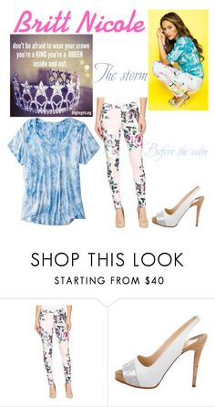 """Britt Nicole"" by jbfashionista ❤ liked on Polyvore featuring Hue, Christian Louboutin, American Eagle Outfitters and Nicole"
