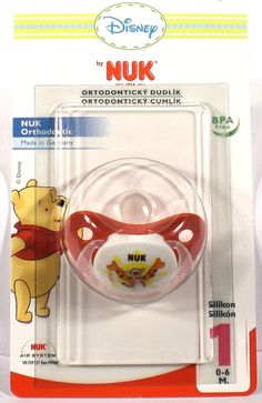 NUK Trendline Disney Winnie the Pooh Soother Pacifier 0-6 Months BPA Free Silicone (2159-1)
