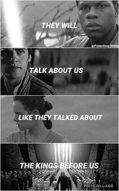"""""""The Believer"""" John Legend, Common. Star Wars fan edit by Pretentious Shirley. Finn, Rey, Poe Dameron, Luke Skywalker, Chewbacca, Han Solo, Princess Leia Organa."""