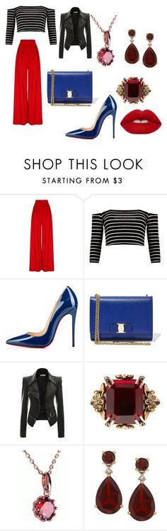 Elegant Chic color flavor by lisa-elijah on Polyvore featuring Christian Louboutin, Salvatore Ferragamo, Alexander McQueen and Lime Crime