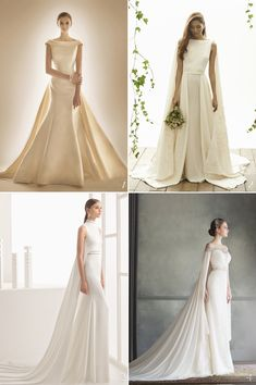 When vintage elegance meets ultra chic minimalist structures, the result is timelessly beautiful. Designers are taking a detour from the tulle and organza princess fantasies, and playing with fresh takes on old favorites featuring sleek structures that are both simple and seductive. Get inspired by our handpicked collections below!
