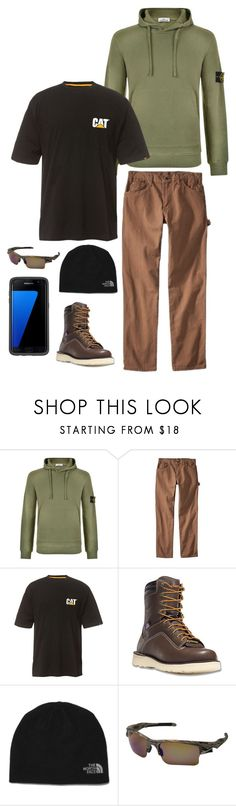 """""""Shannon 9"""" by mountain-girl-lynn ❤ liked on Polyvore featuring STONE ISLAND, Dickies, Caterpillar, Danner, Oakley, OtterBox, men's fashion and menswear"""