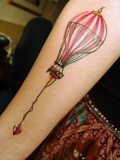 hot air balloon tattoo - Cerca con Google