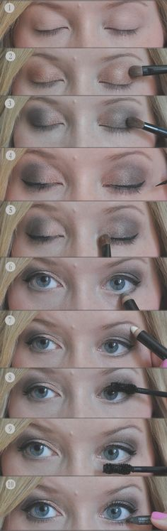 Easy smoky eye, courtesy of our friend Kate Bryan at The Small Things Blog. Small Things Blog, Eyes Lips Face, Health And Beauty Tips, Love Makeup, Makeup Tips, Makeup Looks, Pretty Makeup, Skin Makeup, Makeup Eyeshadow