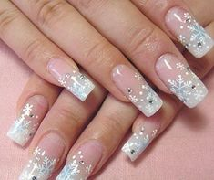 Snowflake/Christmas nails https://www.pinterest.com/nailistica/pins/