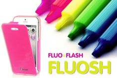 FLUOSH Collection by Muvit: fluo & flash accessories for your summer! New smartphone accessories collection with fluorescent color and glossy flash finishing. http://www.celly.com/accessori-telefonia/FLUOSH/