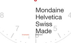 Responsive landing page that animates as you scroll for the 'Mondaine Helvetica' watch range. The One Pager also acts as a tribute to the Helvetica font with good imagery and interesting information.