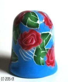 SpringFling Rose Rose Thimble à collectionner par polymerclaybeads