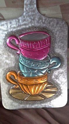 embellishing tin metal and copper Aluminum Foil Crafts, Metal Crafts, Craft Stick Crafts, Pewter Art, Pewter Metal, Soda Can Crafts, Metal Embossing, Tin Art, Copper Art