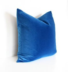 Blue Velvet Designer Pillow Cover 20x20. $110.00, via Etsy.