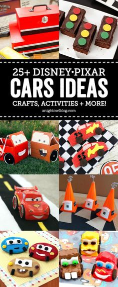 Excited for Disney•Pixar's Cars 3? Keep your kids busy having fun all summer with these FUN and easy Disney•Pixar Cars Ideas – Crafts, Activities and More!