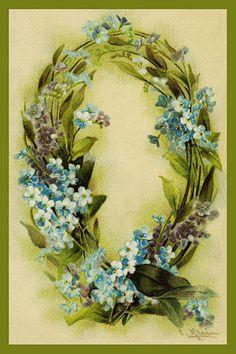Alphabet Flowers by Catherine Klein - Letter Q Vintage Diy, Images Vintage, Vintage Cards, Vintage Postcards, Catherine Klein, Flower Alphabet, Flower Letters, Monogram Letters, Victorian Flowers