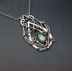 Truly Elvish Pendant Sterling Silver Celtic Elven by ElnaraNiall