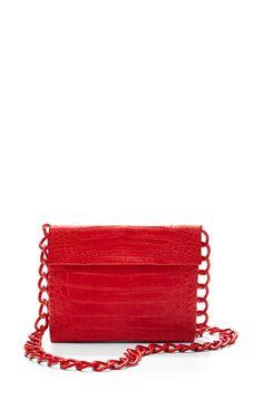Get inspired and discover Nancy Gonzalez Handbags trunkshow! Shop the latest Nancy Gonzalez Handbags collection at Moda Operandi. Chain Crossbody Bag, Clutch Purse, Hiking Bag, Nancy Gonzalez, Crocodile Skin, Types Of Bag, How To Make Handbags, Beautiful Bags, Leather Handbags
