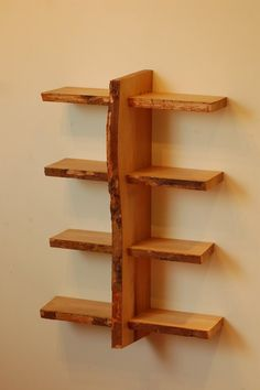 Quadruple Live Edge Shelf No. 7 by ADrauglis on Etsy, $175.00