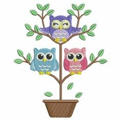 Baby Owls 3, 7 - 5x7 | What's New | Machine Embroidery Designs | SWAKembroidery.com Ace Points Embroidery