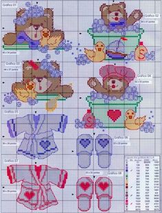 Baby Cross Stitch Patterns, Baby Bibs Patterns, Cross Stitch For Kids, Cross Stitch Cards, Cross Stitch Baby, Cross Stitch Animals, Cross Stitch Designs, Cross Stitching, Cross Stitch Embroidery