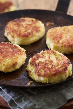 Irish potato cakes with leek and parsnip
