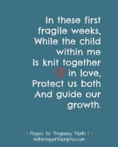 Prayers to pray during pregnancy