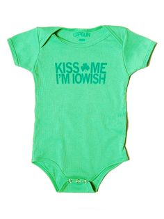 Iowish Onesie-as if your baby needed any more reasons to be kissed.
