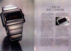 OMEGA LED Bulova Accutron, Retro Futurism, Digital Watch, Vintage Watches, Casio, Nerd, Advertising, Future, Wristwatches