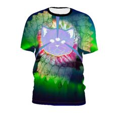 #CatGahd by #99CentBrains, #citrusreport, #Tshirt, #Alloverprint, #Tie-dye, #Trippy, #Cat, #@The Citrus Report