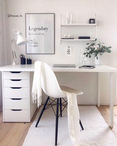 Home office ♥ online kopen Room Design Bedroom, Room Ideas Bedroom, Room Decor, My New Room, My Room, Room Interior, Interior Design, Home Organization Hacks, Home Office Decor