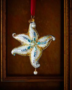 Starfish Christmas Ornament by Jay Strongwater at Neiman Marcus.