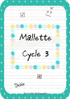 Mallette remplaçant mallette zil cycle 3 remplacements courts Cycle 3, School Organisation, Virginia, Sem Internet, Best Teacher, Primary School, Classroom Management, Teaching, School Life