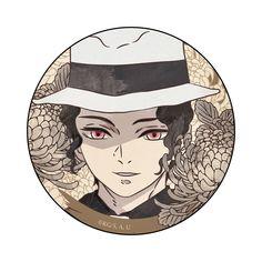 Kimetsu no Yaiba - Kibutsuji Muzan - Badge (Contents Seed) Demon Slayer, Slayer Anime, Anime Demon, Anime Manga, Fanart, Anime Stickers, Best Waifu, Animes Wallpapers, Anime Love