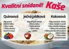 Healthy Cooking, Oatmeal, Food And Drink, Low Carb, Fitness, Breakfast, Recipes, Smoothie, Decor