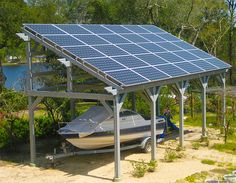 Solar boat parking in Niceville, FL