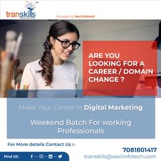 Learn Digital Marketing & Upgrade your Career Digital Marketing, Career, Train, Learning, How To Make, Carrera, Zug, Studying, Teaching