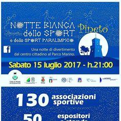NOTTE BIANCA DELLO SPORT - Pineto | Eventi Teramo⠀ #eventiteramo #eventabruzzo #besties #bestoftheday #chill #chilling #cool #crazy #friend…