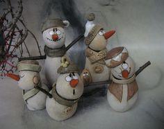 Hejno+sněhuláků+...+nejvyšší+sněhulák+13+cm,