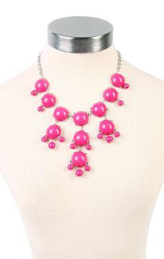 Deb Shops #pink #bubble #necklace