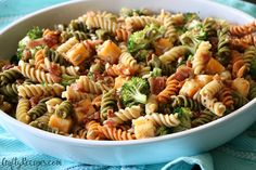 Here's a yummy summer pasta salad that you can make to bring to a BBQ or pool party! This dish is always a winner with the crowd. Broccoli Bacon Pasta Salad with Bacon Vinaigrette Ingredients: 12 oz. package Rotini pasta, I used the tri-color 1 tsp. salt 3 cups raw broccoli, chopped 1 cup cheddar …