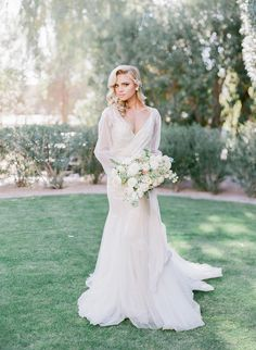 sexy Old Hollywood inspired wedding dress Ashley Rae Photography