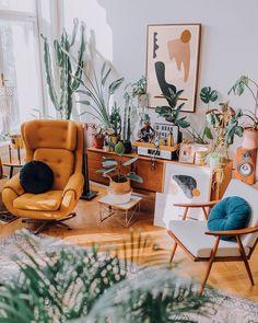 Bohemian latest and stylish home decor design and lifestyle ideas - Warm home decor Warm Home Decor, Stylish Home Decor, Home Living Room, Living Room Decor, Bedroom Decor, Wall Decor, Room Interior, Interior Design Living Room, Image Deco