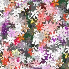Flowers by Simonetta De Simone Seamless Repeat  Royalty-Free Stock Pattern