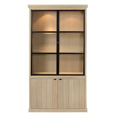 New England vitrinekast Ref 4 Bookcase Shelves, Shelving, Jewellery Shop Design, Rustic Cabinets, Display Cabinets, Cupboards, Furniture Styles, Lancaster, Pallet Furniture