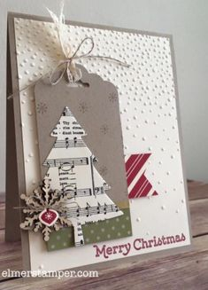 Festival of Trees, Christmas Card, Stampin Up!, Rubber Stamping, Handmade Cards Stamp a stack