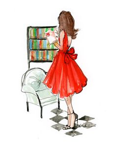 Fashion Illustration Art Print: The Classic Reader