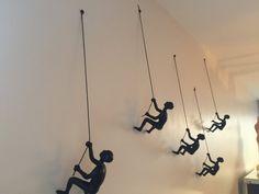 8 Piece Climbing Sculpture Wall Art Gift For Home Decor Interior Design Man Contemporary Artwork