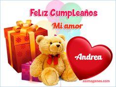 Feliz Cumpleaños Andrea - Imágenes Tarjetas Postales con Nombres | Feliz Cumpleaños