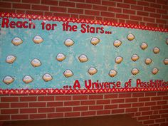 Beginning of year bulletin board with year's theme