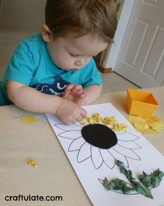 Crafts For 2 Year Olds, Fall Crafts For Kids, Spring Crafts, Crafts To Make, Easy Crafts, Kids Crafts, Art For Kids, Easy Toddler Crafts 2 Year Olds, Toddler Art Projects