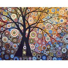 Abstract Tree Paint by Number Kit DIY painting paint by numbers